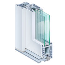 Steel door profile / PVC / thermally-insulated