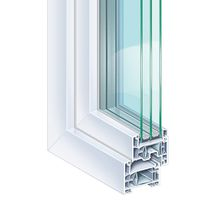 PVC window profile / thermally-insulated