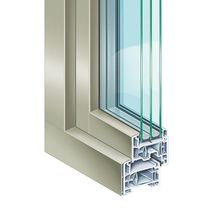 PVC window profile / aluminum / thermally-insulated