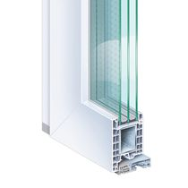 Steel door profile / PVC / thermally-insulated / security