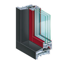 Steel window profile / PVC / thermally-insulated