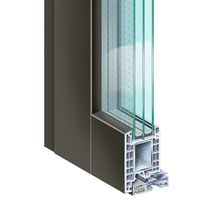 PVC door profile / aluminum / security / thermally-insulated
