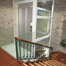 Electric elevator / home / machine room-less / panoramic