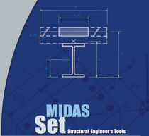 2D/3D computer-aided engineering software CAE MIDAS SET MIDASIT