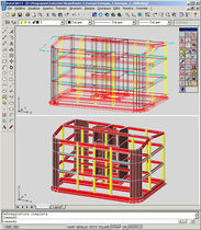 2D/3D computer-aided engineering software CAE: concrete structures BEAMPIANTE CONCRETE