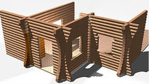 2D/3D computer-aided engineering software CAE: wood structures HSB LOG hsbSOFT