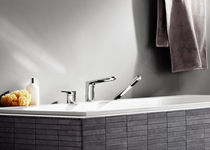 3 hole shower and bath-tub double handle mixer tap L´AURA Villeroy & Boch