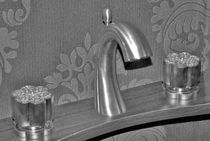 3 hole washbasin double handle mixer tap AQUILA MARGOT