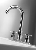 3 hole washbasin double handle mixer tap TESIS F.lli Frattini