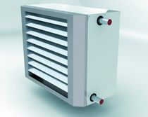 Hot water air heater / wall-mounted