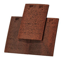 Flat roof tile / clay