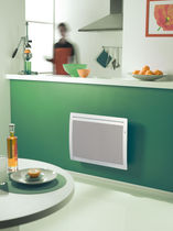 Electrical radiator / horizontal / metal / wall-mounted