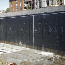 Synthetic waterproofing membrane / PVC / for basements / for parking lots
