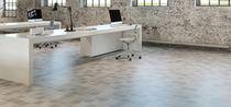 Floor tile / porcelain stoneware / plain / polished