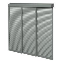 Aluminum solar shading / for facades / sliding