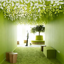 Paper suspended ceiling / strip / decorative / flame-retardant