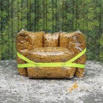 Contemporary armchair / PVC / cardboard / paper