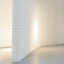Paper textile membrane / for false ceilings / for partition walls / for interior fittings