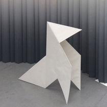 Paper textile membrane / for partition walls / fire-retardant / printed