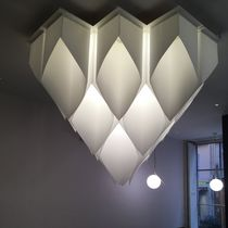 Contemporary ceiling light / paper / LED