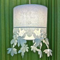 Pendant lamp / contemporary / paper / incandescent