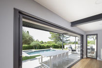 Sliding patio door / aluminum / double-glazed / triple-glazed