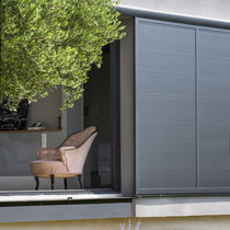 Sliding shutters / aluminum / for facades / thermal break