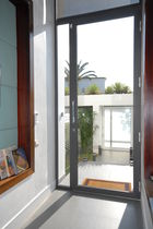Entry door / swing / aluminum / with fixed leaf