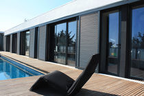 Sliding shutters / aluminum / for facades / thermal break