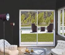 Sliding patio door / aluminum / double-glazed / acoustic