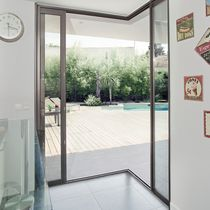 Sliding patio door / aluminum / triple-glazed / double-glazed