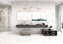 Bathroom tile / wall / porcelain stoneware / plain