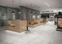 Floor tile / porcelain stoneware / plain / polished