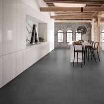 Wall-mounted tile / porcelain stoneware / plain / geometric pattern