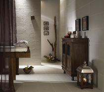 Floor tile / porcelain stoneware / patterned / matte