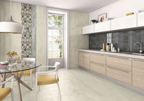 Kitchen tile / floor / porcelain stoneware / polished