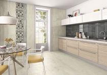 Kitchen tile / floor / porcelain stoneware / polished