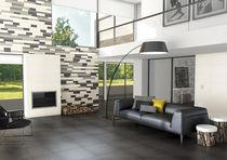 Living room tile / floor / porcelain stoneware / polished
