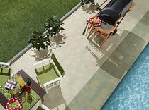 Poolside tile / for floors / porcelain stoneware / plain