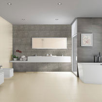 Bathroom tile / floor / porcelain stoneware / plain