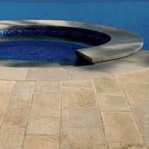 Poolside tile / indoor / floor-mounted / natural stone