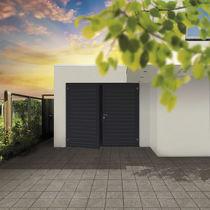 Swing garage doors / steel / polyurethane foam / manual