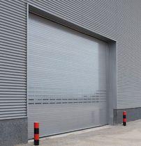 Roll-up industrial door / aluminum / wind-proof / insulated