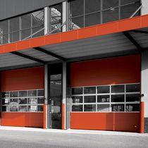 Sectional industrial door / metal / PVC / automatic