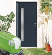 Entry door / swing / aluminum / galvanized steel
