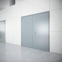 Indoor door / swing / stainless steel / galvanized steel