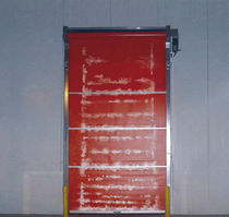 Roll-up industrial door / PVC / automatic / wind-proof