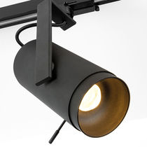 LED track lights / round / metal / residential
