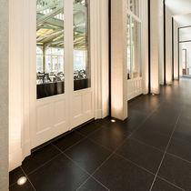 Recessed floor light fixture / LED / round / square