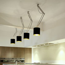 Hanging light fixture / incandescent / round / IP20